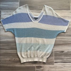 Express Light Striped Batwing Sweater